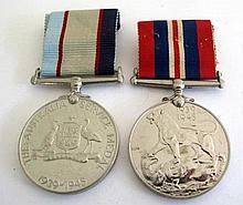 World War11 War Medal & Australian Service Medal No NX 112606 G.A. Begaud (