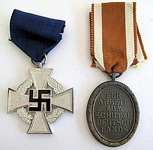 German WW11 West Wall Medal for assistance in building the Seigfried Line w