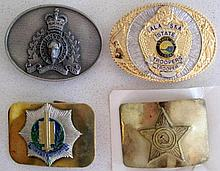 Brass Russian military belt buckle with Hague Constabulary traffic police b