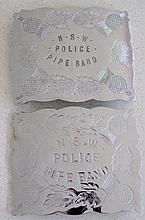 Two NSW Police Pipe Band large buckles