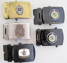 Five various NSW Police belt buckles