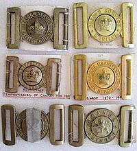 Six early Prisons Services belt buckles includes Uganda, Jamaica, British G