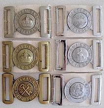Six early Prison Services belt buckles includes Jamaica Prison Service, Roy