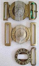 Three vintage buckles includes Pacific Islands Regiment by KG Luke Melbourn