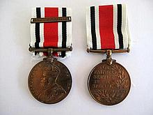 Two Special Constabulary Medals George V and George V1 (2)