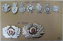 Police seven lapel badges Wales and England Gwent, Devon/Cornwall, Durham,