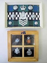 Scotland police cap & insignia with Essex police badges