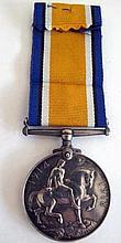 World War1 British War Medal No 202032 Pte W. Farrell S.Lan.R