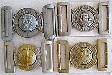 Two British Guiana Police buckles with Kenya Police and gilt British South
