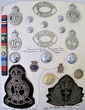 Palestine Police Shoulder Cap with K.C.Badges & Buttons bullion thread UK M