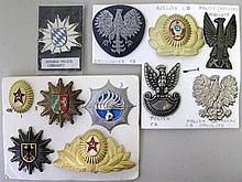 USSR, Poland, German & Dutch Police cap badges eleven various