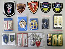 Italy police badges & patches Rome, Verona, Iseo, Chianti etc