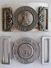 Early Siamese Police belt buckle with Brunei police buckle (2)