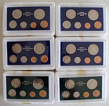 Four RAM 1983 proof coin sets with two Royal Australian Mint 12th Brisbane