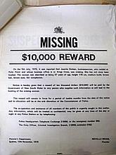 Various NSW Police Wanted posters includes Suspected Murder Donald McKay an