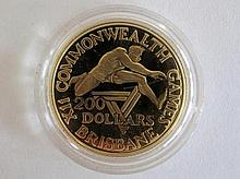 Australian 1982 $200 gold coin Brisbane X11 Commonwealth Games 10grams 22ct