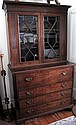 Good Georgian Secretaire mahogany bookcase