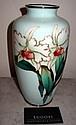 Superb Large Ando silver wire cloisonne vase