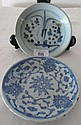Two Chinese Ming plates 14cms dia approx