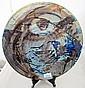 Australian studio pottery charger 38cms diam