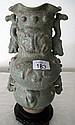 Large Chinese celadon crackle glaze vase