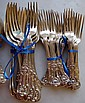 Antique Kings pattern sterling silver flatware