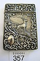 Antique sterling silver card case