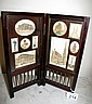 Antique Viennese rosewood miniature screen