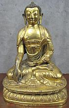 Large Imperial cast & repousse gilt bronze Buddha