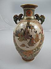 Meiji satsuma vase finely painted with Bijin