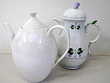 Arzberg white tea and coffee pots