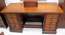 Antique double pedestal desk four drawers each side measures 81cms x 152ms