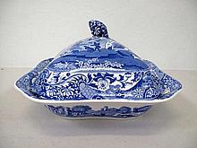 Spode antique Italian blue and white tureen