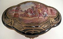 19thC Sevres finely painted porcelain box finely