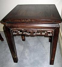 Antique Chinese small rosewood table 43.4cms x 50cms Ht