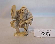 Ivory Netsuke of Japanese Evening announcer