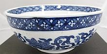 Chinese underglaze blue porcelain bowl painted