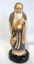 Fine Japanese carved ivory figure Magician signed