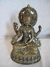 Chinese brass figure of Buddha