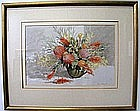 Fiona Craig watercolour Blossom with Scarlet Banksias signed lower right me