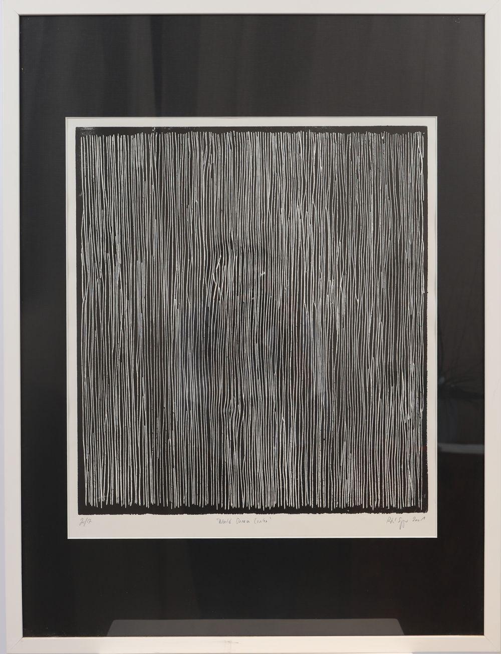"""""""World Dream Center"""" de Rafael Springer (né en 1958) Artiste peintre luxembourgeois Lithographie mon"""