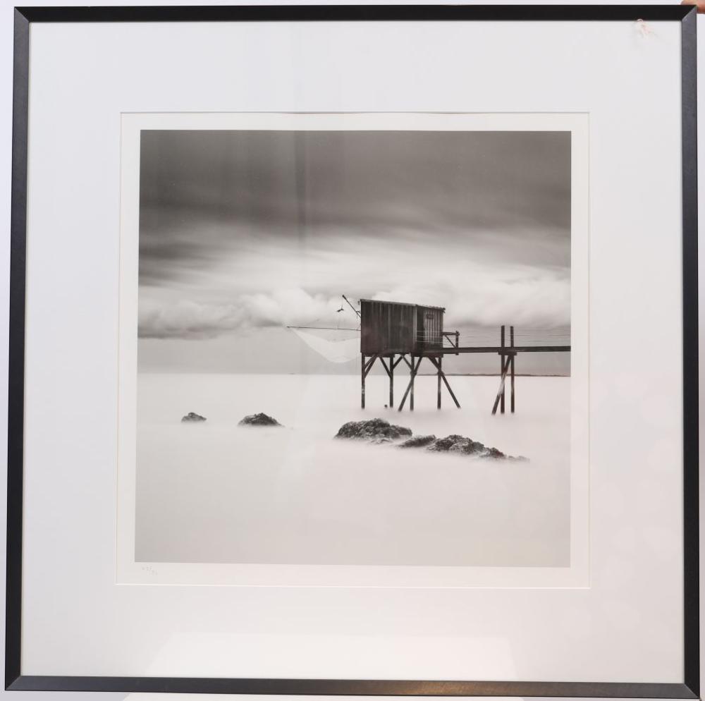 """""""Entre deux eaux"""" de Sébastien Grebille Tirage photographique en noir et blanc encadré sous verre. S"""
