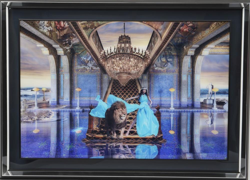 Pierre Chazelat (né en 1964) Montage photographique de mouvance surréaliste. Signé en bas à droite.