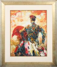 Toreador de Jack Prudnick (1914-?) Huile sur toile encadré. Signé en bas à gauche. Epoque XXème sièc