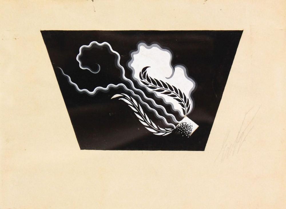 Erte - Black and White Print - Signed
