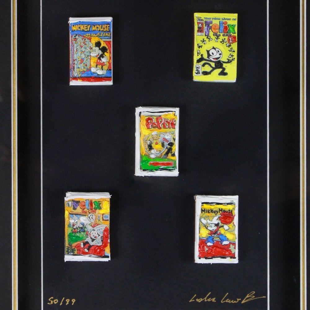 Leslie Lew - Comic Series Matchbox Art Shadowbox 50/99