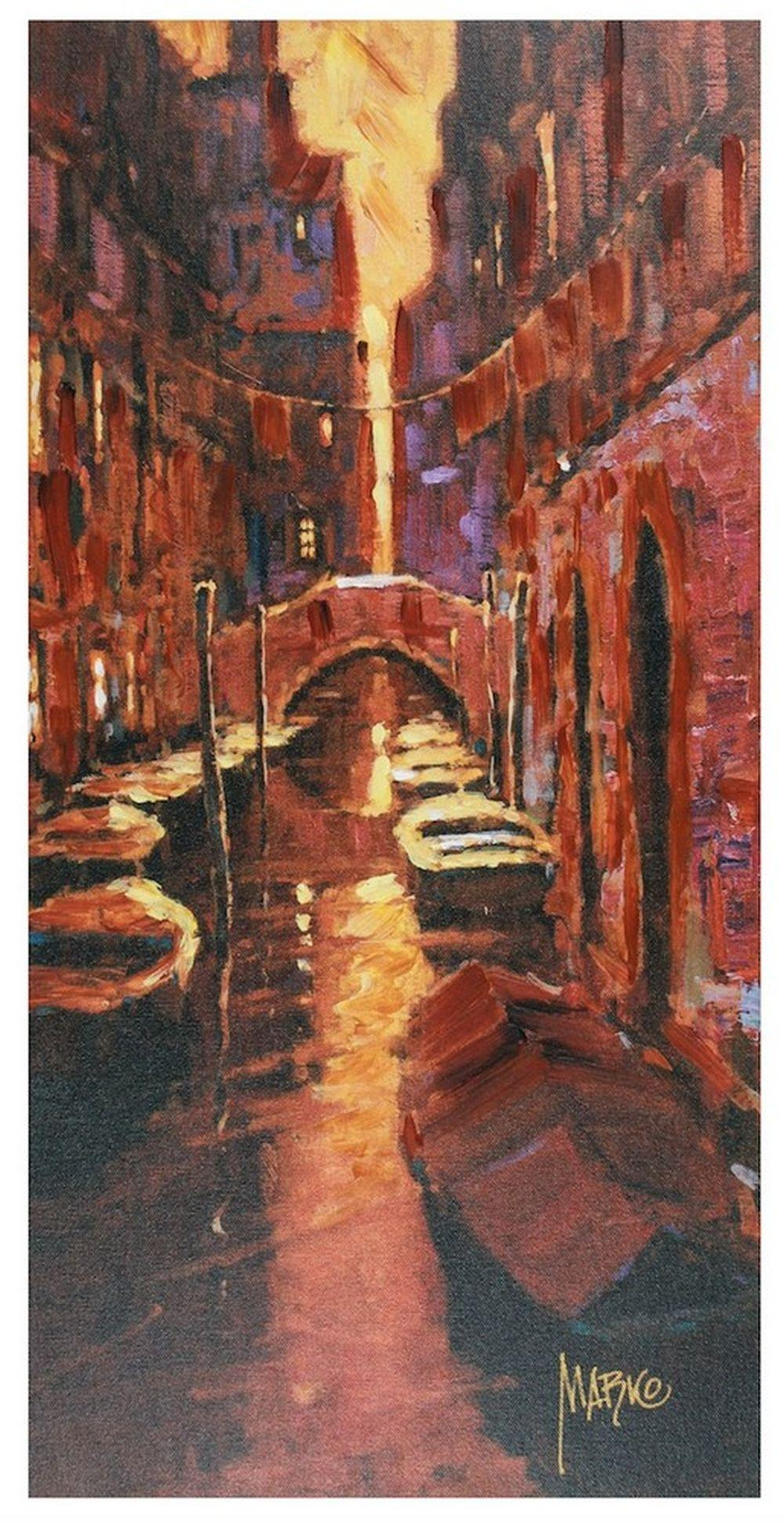 "Marko Mavrovich - ""Sunset Canal"" - signed"