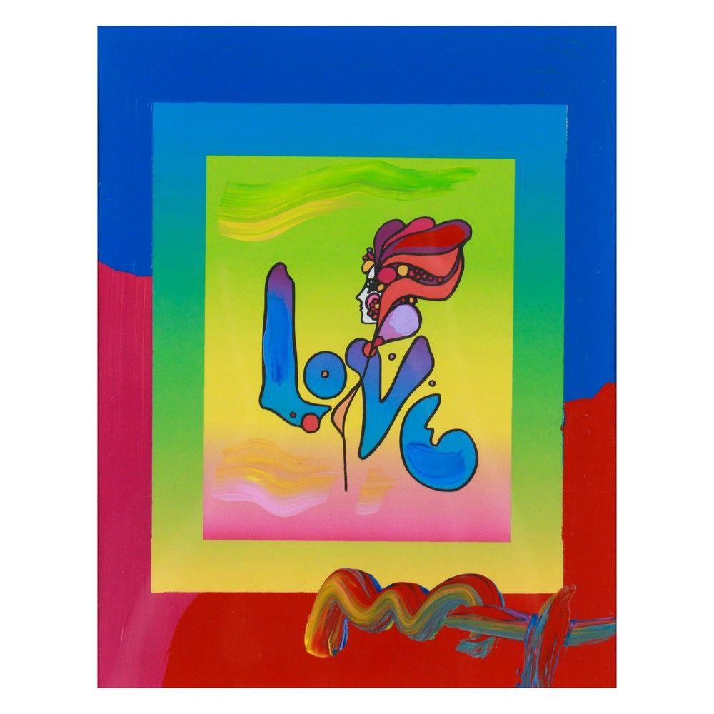 """Peter Max - """"Love on Blends"""" 2006 - Signed"""
