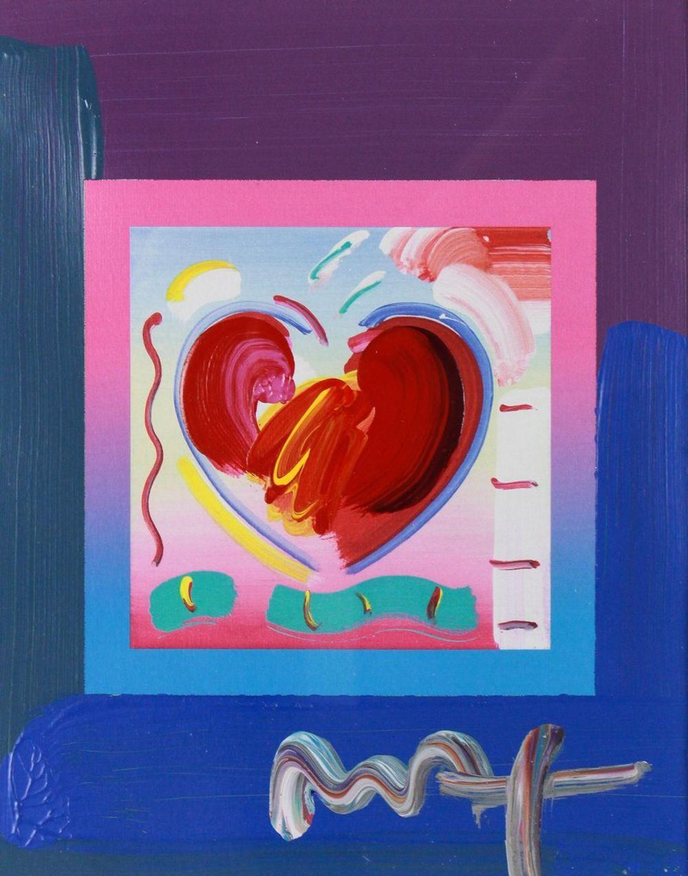 """Peter Max - """"Heart on Blends"""" 2010 - Signed"""