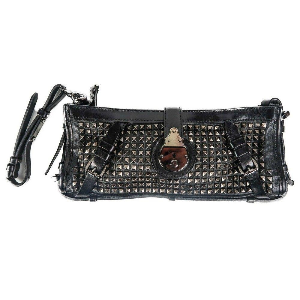 Burberry Stud Clutch Wristlet Bag - Black Knight